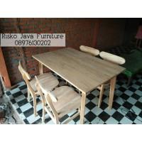 Kursi Makan Minimalis - Kursi Cafe - Kursi dan meja makan jati