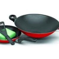 HOT SALE MAXIM VALENTINO 2set Wajan / Penggorengan ( wok 30cm + fry