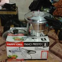 Panci Presto HAPPY CELL Pressure Cooker 8 Liter Stenlissteel metal