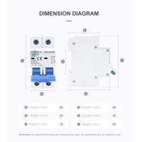 Jual [16A] TOMZN MCB DC 2P 1000V C16 16A Circuit Breaker