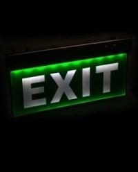 Jual Lampu Exit Lamp Emergency Exit Sign Lamp Acrylic ...