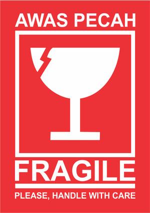 Logo Barang Mudah Pecah : barang, mudah, pecah, Sticker, Fragile, Stiker, Barang, Pecah, Belah, Kecil, Bekasi, Printing, Tokopedia
