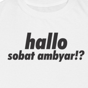 Jual Sk T Shirt Sobat Ambyar Putih M Kota Malang Skcloth