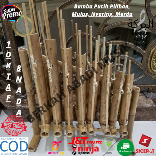 Jual Calung Bambu Bisa Cod Angklung Bambu Angklung 8 Nada Angklung 1 Oktaf Jakarta Barat Berkah Abadi Musik Tokopedia