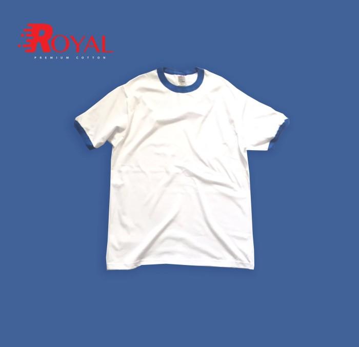 Jual Kaos Ringer Polos Royal Apparel Putihbiru Kota Tangerang Selatan Jahr Store Tokopedia