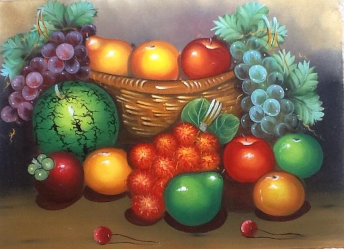 gambar buah buahan dalam keranjang