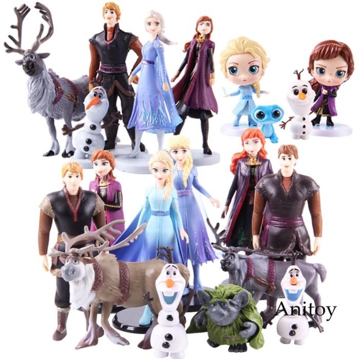 Jual Queen Elsa Anna Figures Doll Kristoff Sven Olaf Bruni Nokk Troll Jakarta Pusat Keysha Star Tokopedia