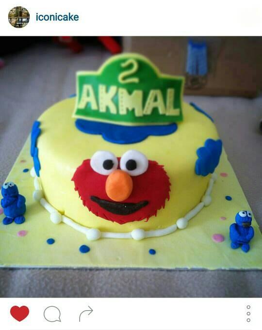 Jual Tart Elmo Cake Kota Tangerang Iconicake Tokopedia