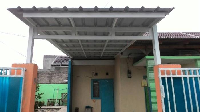 contoh kanopi baja ringan atap spandek jual model ekonomis kota depok