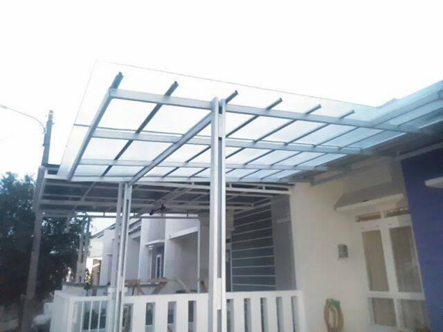 contoh atap baja ringan rumah minimalis jual rangka amp canopy elegan