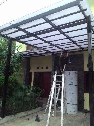 harga kanopi baja ringan atap polycarbonate jual plus cat kota