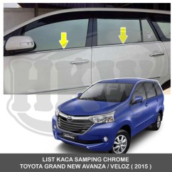 Harga Grand New Veloz 2016 All Kijang Innova Bekas Jual List Kaca Samping Chrome Toyota Avanza
