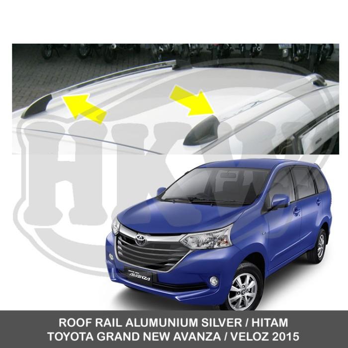 roof rail grand new avanza veloz 2016 jual alumunium silver hitam toyota