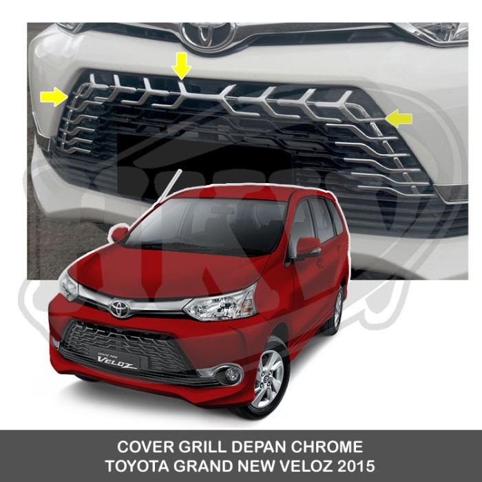 grand new avanza veloz 2015 modifikasi 2017 jual cover grill depan chrome toyota