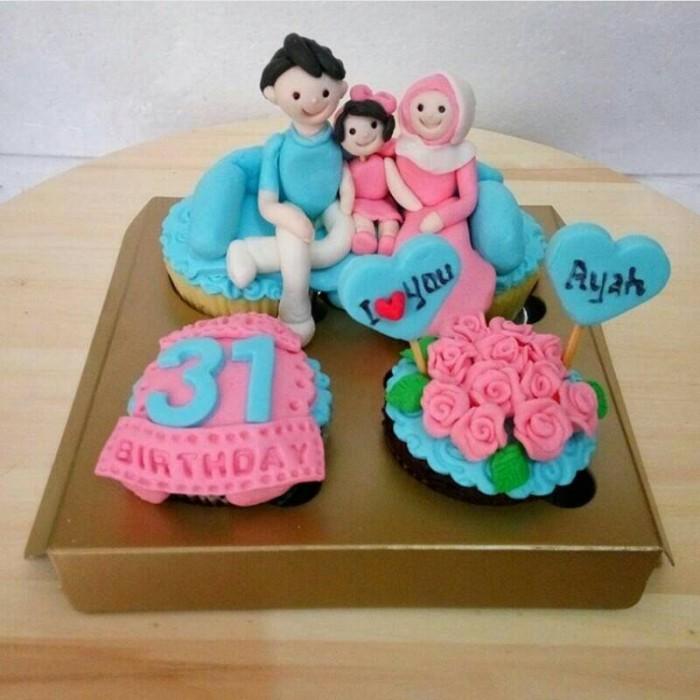 Jual Cupcake Birthday Bday Cake Kue Ulang Tahun Kota Bandung