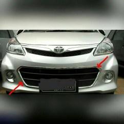 Bemper Depan Grand New Avanza Veloz Toyota Yaris Trd 2016 Bekas Jual List Bumper All Chrome Roda4