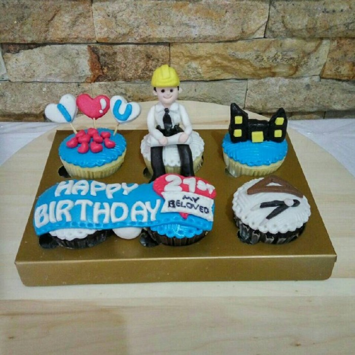 Jual Cupcakes Birthday Arsitek Bday Cake Kue Ulang Tahun Kota