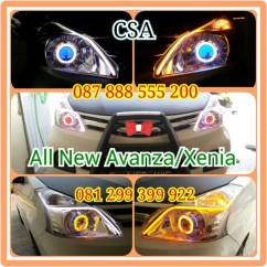 Drl Grand New Avanza Veloz 1.3 Matic Jual Headlamp All Xenia Lensa Projector Double Angel Eye