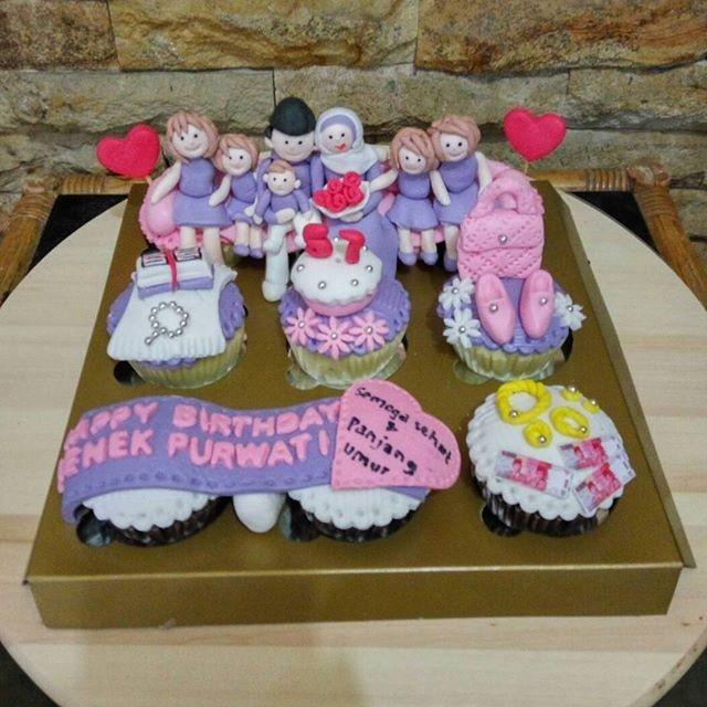Jual Cupcakes Birthday Nenek Bday Cake Kue Ultah Kota Bandung