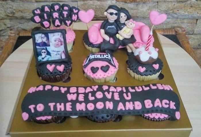 Jual Cupcakes Birthday Tema Metallika Bday Cake Kue Ultah Suami