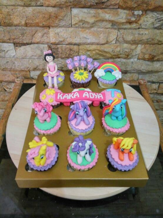 Jual Cupcakes My Little Pony Bday Cake Littleponny Kue Ulang