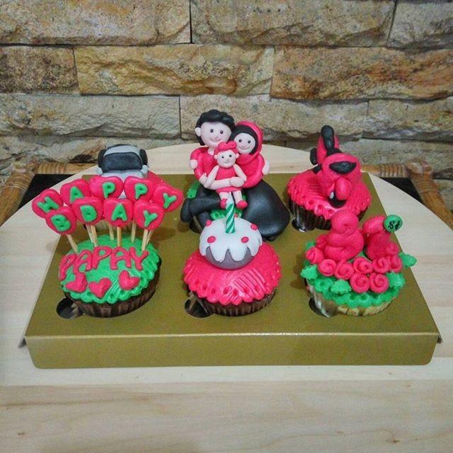 Jual Cupcake Birthday Papah Bday Cake Kue Ultah Suami Kota