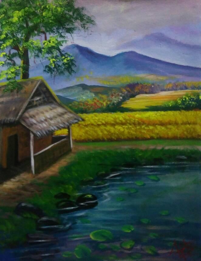 Jual Lukisan Pemandangan Alam  ID Gallery  Tokopedia