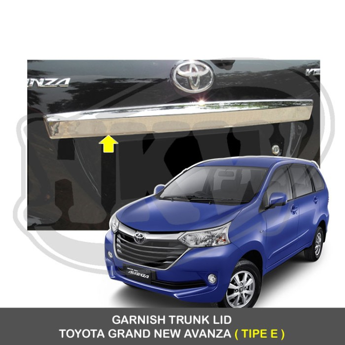 grand new avanza tipe e 2017 harga all kijang innova 2.4 v a/t diesel lux jual garnish trunk lid toyota murah lucky