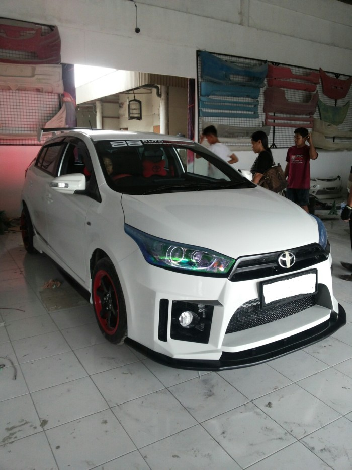 toyota yaris trd spoiler grand new avanza veloz matic jual body kit full custom 88 auto
