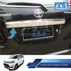 Grand New Avanza Type E 2017 All Toyota Vellfire Jual Trunk Lid Chrome Jsl Aksesoris Mobil