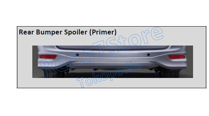 jual spoiler grand new avanza veloz 1.5 2018 rear bumper limited original