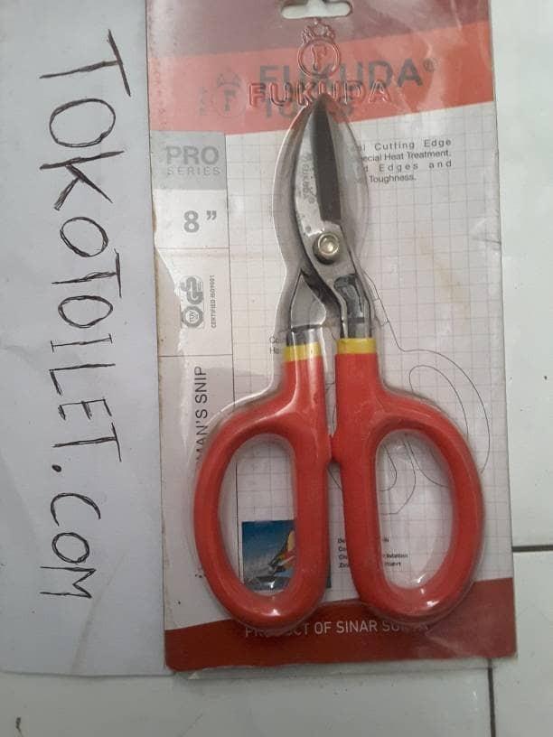 gunting untuk memotong seng jual alat potong baja gagang karet panjang 8