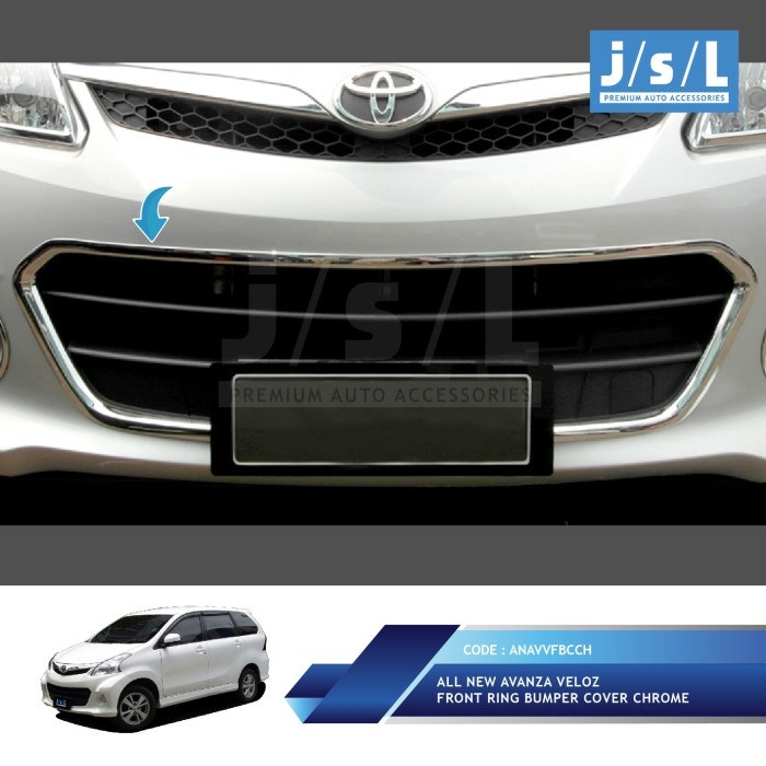 aksesoris grand new avanza 2017 harga mobil 2018 jual all veloz front ring bumper cover chrome