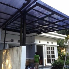 Harga Kanopi Baja Ringan Atap Polycarbonate Jual Model Elegan Kota