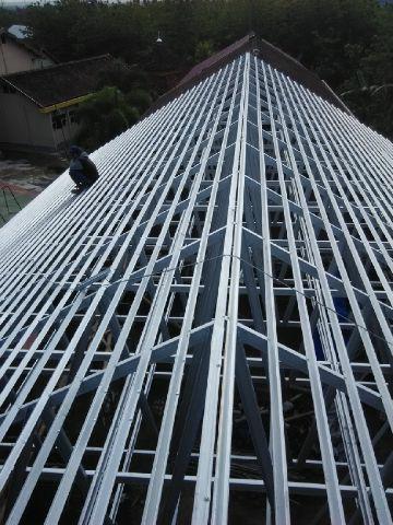 gambar rangka atap baja ringan limasan jual kab sleman herita collections