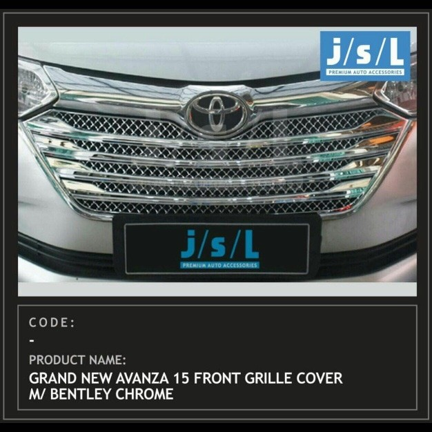 cover grill grand new avanza toyota yaris 2017 trd parts jual full chrome model bentley great xenia