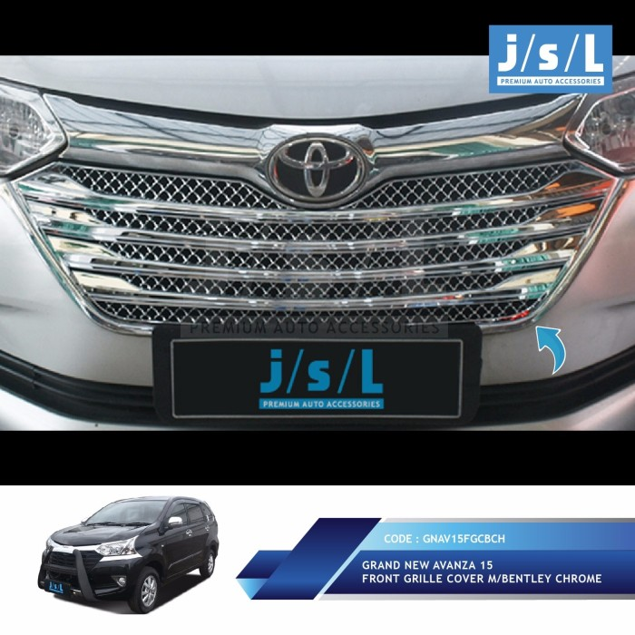 aksesoris grand new avanza lampu jual cover grill depan model bentley chrome toko