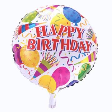 Jual Balon foil Happy birthday gambar terompetanakpesta