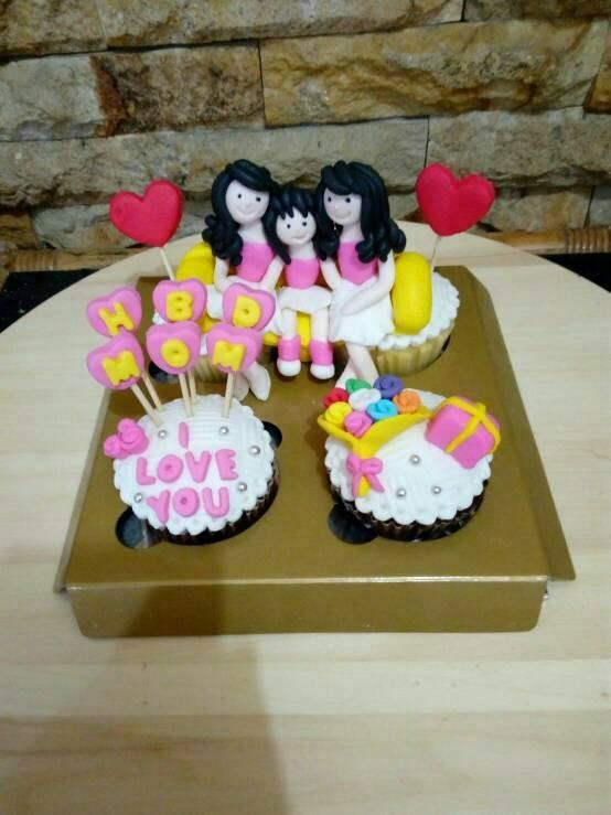 Jual Cupcake Birthday Mom Kue Ultah Ibu Bday Cake Kota Bandung