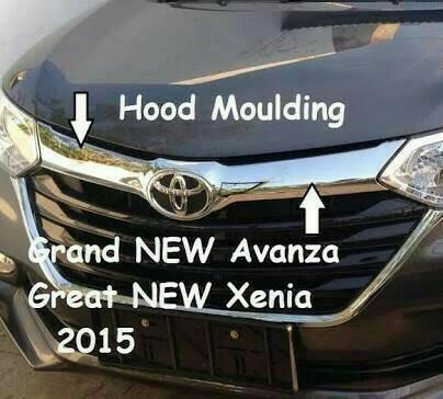 grill chrome grand new avanza spesifikasi all kijang innova 2014 jual hood moulding list atas kap mesin