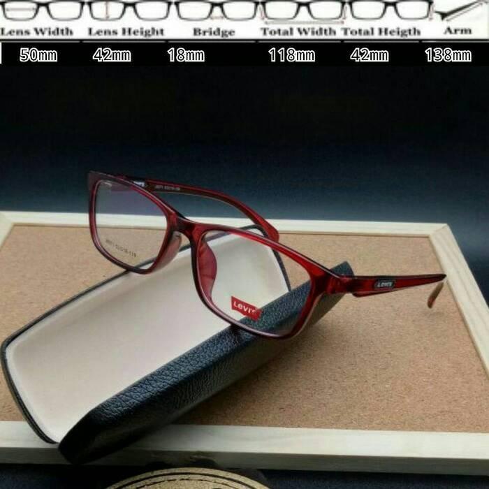 Jual Kacamata Levis 8071 Red Glossy Smoke Frame Murah d78f248488