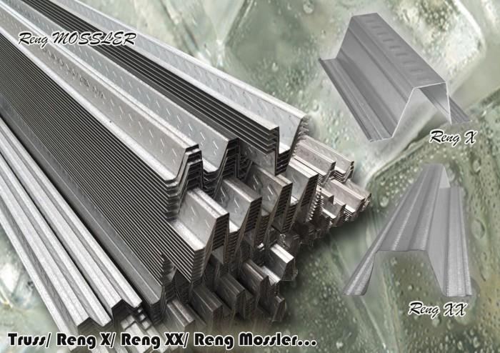 tebal reng baja ringan jual truss x xx mossler rangka atap