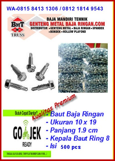 baut baja ringan merk profit jual skrup 10x19 self drilling screw isi 500 pcs