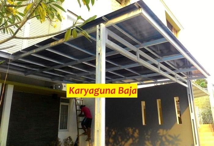 harga baja ringan juli 2018 jual kanopi atap polycarbonate centraland parung