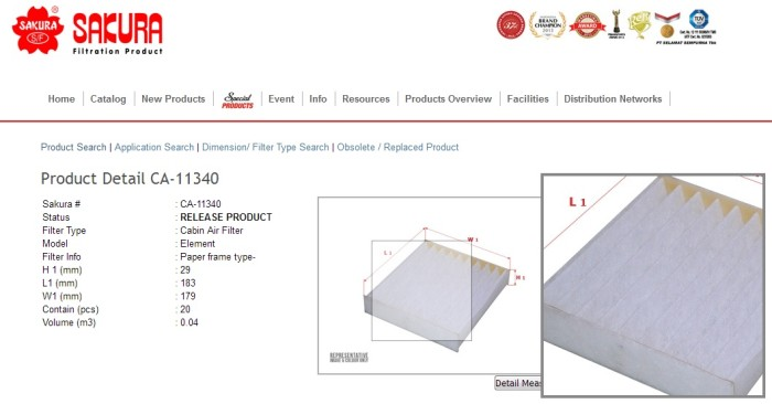 harga filter udara grand new avanza katalog jual kabin ac all sakura ca 11340 71045