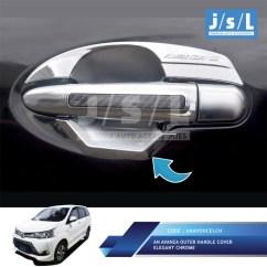 Aksesoris Grand New Avanza 2017 All Kijang Innova Crysta Jual Outer Handle Cover Elegant Chrome Mobil