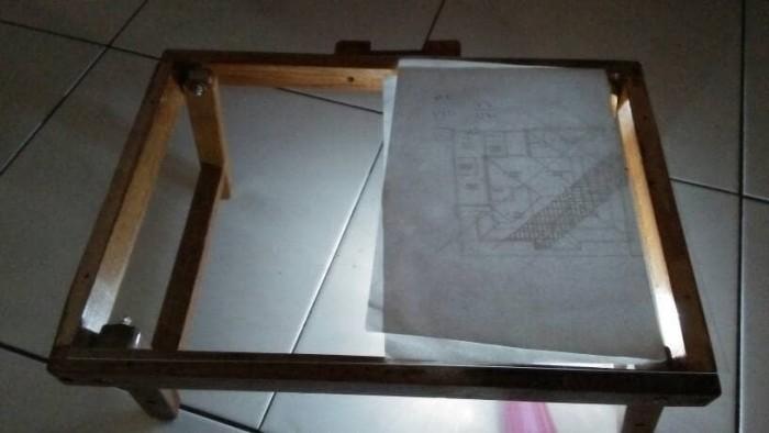 Jual Meja Gambar Kaca Portable untuk Teknik Sipil Arsitek
