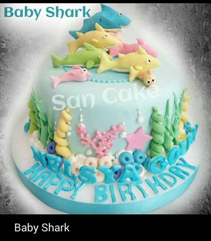 Jual Baby Shark Bday Cake Dki Jakarta San Cake Jakarta Tokopedia