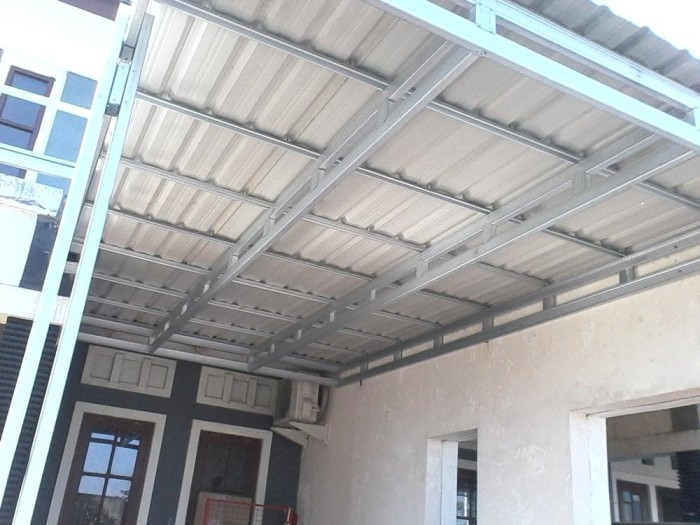rangka plafon baja ringan minimalis jual kanopi atap spandek jakarta selatan