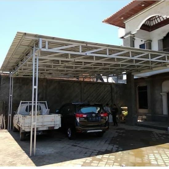 biaya membuat garasi mobil dengan baja ringan jual kanopi untuk carfort atau parkiran